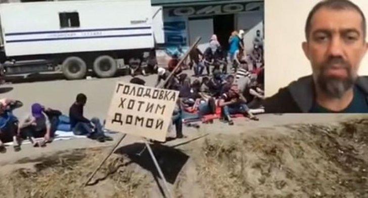 Polis Rusiya sərhəddində azərbaycanlıların etiraz aksiyasını qəddarcasına  dağıdıb -
