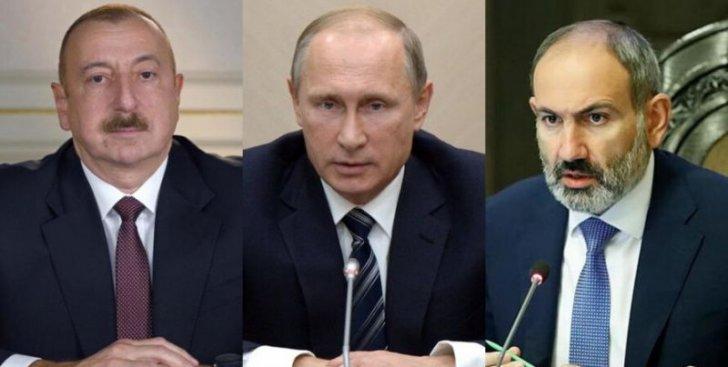 Putin İ.Əliyev və N.Paşinyanla Qarabağa dair sazişlərin reallaşmasını müzakirə edib