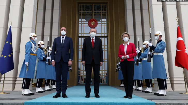 Erdoğan Avropa rəhbərlərini qəbul edib